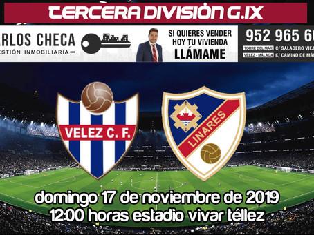El Vélez recibe al Linares, líder de Tercera División (Dom. 12:00h)