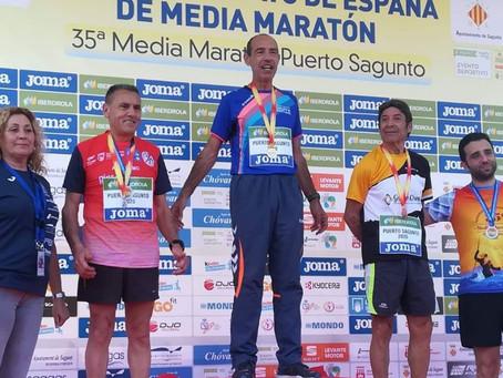 El veleño Salvador Galeote, subcampeón de España de media maratón