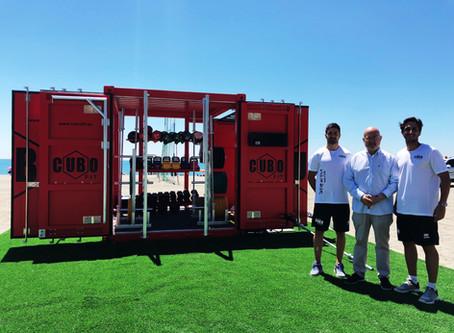 Torre del Mar revoluciona sus playas con un gimnasio americano