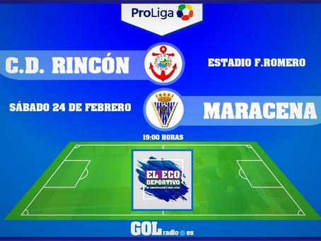 El Rincón juega este sábado ante un Maracena en zona de descenso