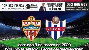 El Vélez buscará lo imposible en Almería (Dom.12:00h)