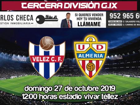 El Vélez recibe al Almería B en el inicio oficial de la 'era Gobantes' (Dom.12:00h)