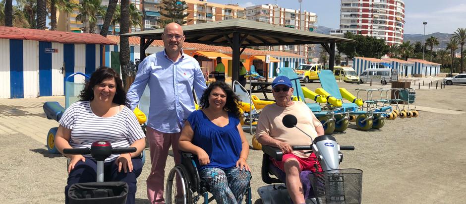 Las playas adaptadas del municipio de Vélez-Málaga, un ejemplo en accesibilidad con la incorporación