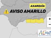 La AEMET activará este martes el aviso amarillo por vientos en la Axarquía