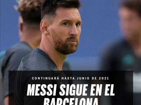 """Oficial • Messi se queda en el Barcelona: """"No puedo denunciar al club de mi vida"""""""