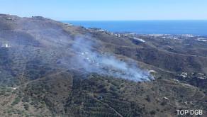 Última hora: Declarado un incendio en un paraje de Río Seco, en el municipio de Arenas