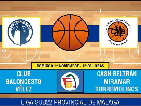 El CB Vélez debuta en casa este domingo ante Miramar Torremolinos (Dom. 12:00)