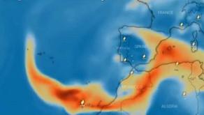 La nube de dióxido de azufre del volcán de La Palma llegarán a la Península en días