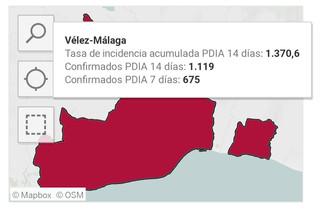 Urgente: La tasa de incidencia acumulada en Vélez-Málaga se dispara a 1.370 casos