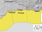 Vuelve el temporal a la Axarquía: Aviso amarillo por fenómenos costeros el sábado
