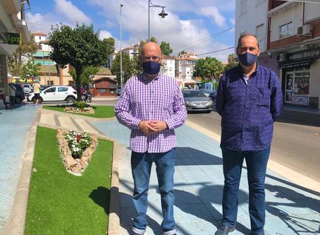 Torre del Mar completa la mejora de jardines de la calle Antonio Machado
