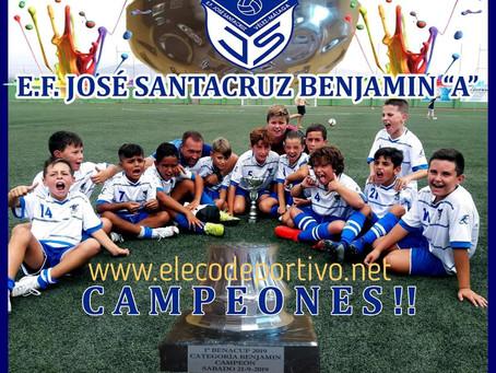 Los benjamines de la EF Pepe Santacruz, campeones en Benamocarra