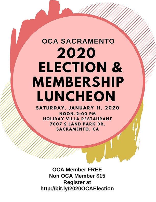 OCA 2020 Election & Membership Luncheon.
