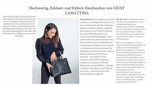 Giusy Lamattina as best brand for the planet on luxiders magazine