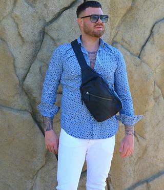 Schultertasche auch Reisetasche aus veganem Leder von Giusy Lamattina