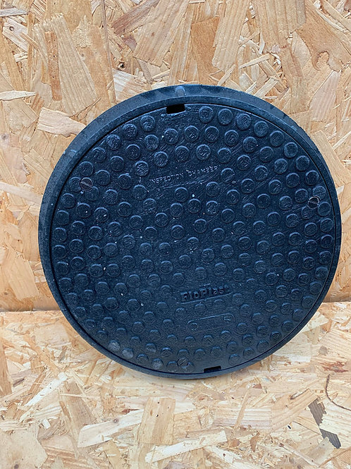Round 300mm Plastic Sealed Screw Down Cover & Frame