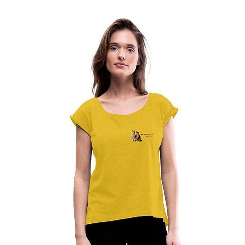 T-shirt à manches retroussées Femme - Mister Darras