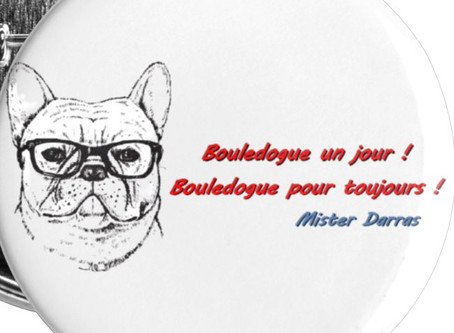 Petits badges Bouledogue (25 mm) - Mister Darras