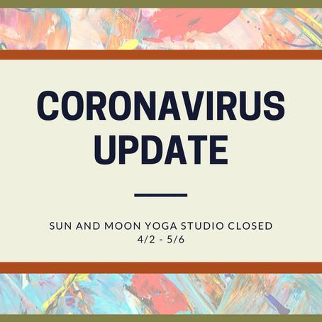 Coronavirus Update: Studio Closed 4/2 through 5/6 (スタジオ臨時休業について)
