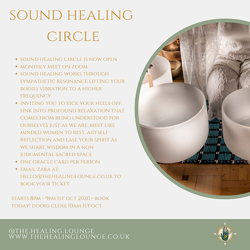 Sound Healing Online Group Sound Bath with Crystal singing bowls
