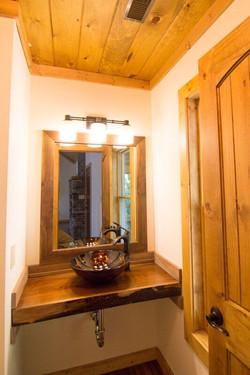 Half bath upper floor