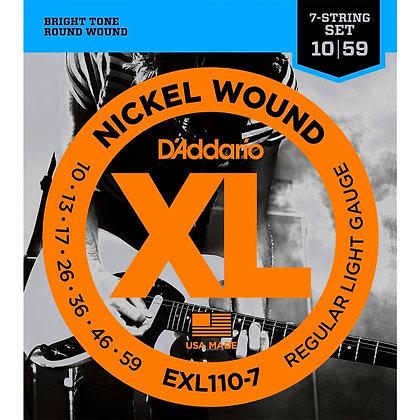Encordadura Daddario EXL-110-7