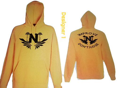 Unisex Heavy Pullover Hoodie Logo Front and Back