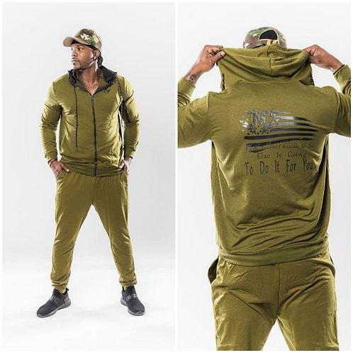 Men's 2pc Plain Zipper Tracksuits