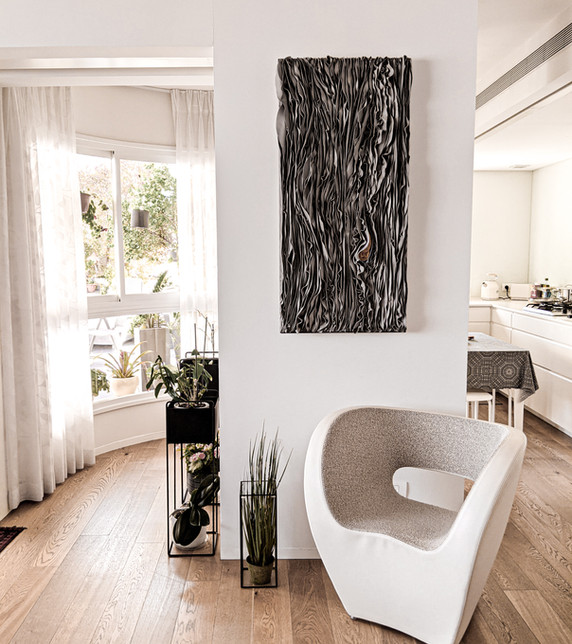 יצירת אמנות בפרופורציות גדולות במיוחד בבית של גיטה ודוד