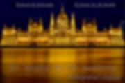 Parlamente de Budapest en hungria por la noche