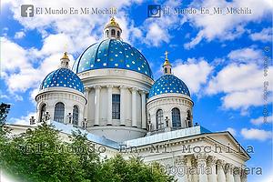 Fotografia de la catedral azul de san petersburgo en rusia