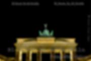 Fotografia nocturna de la puerta de brandenburgo en berlin alemania
