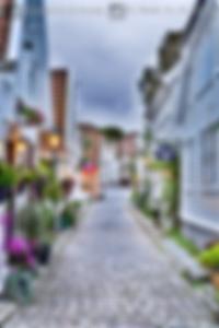 Stavanger en noruega en una de las calles mas bonitas de la ciudad