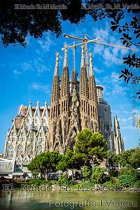 Fotografia de la sagrada familia en barcelona en españa