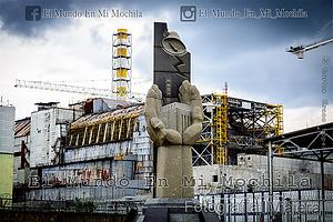 Fotografia de la central de chernobyl en ucrania en el reactor del desastre nuclear