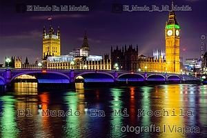 Big Ben de Londres en reino unido en una noche de invierno