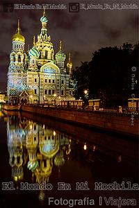 Fotografia de la catedral de la sangre derramada en la ciudad de san petersburgo en rusia