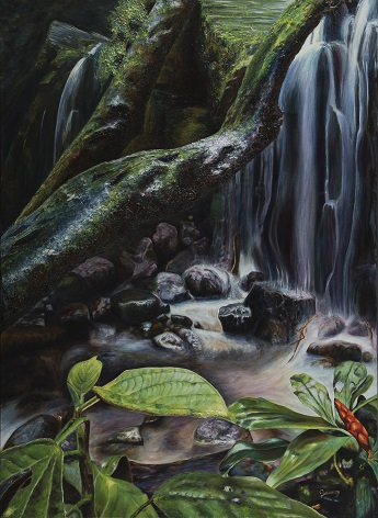 CASCADA ÁNGEL Óleo (100 cm x 73 cm)