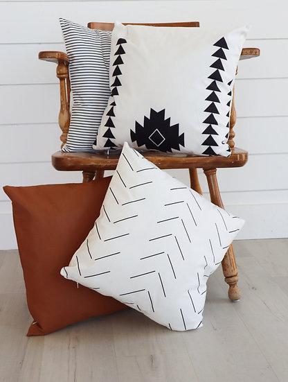 Vertical Chevron Pillow Cover