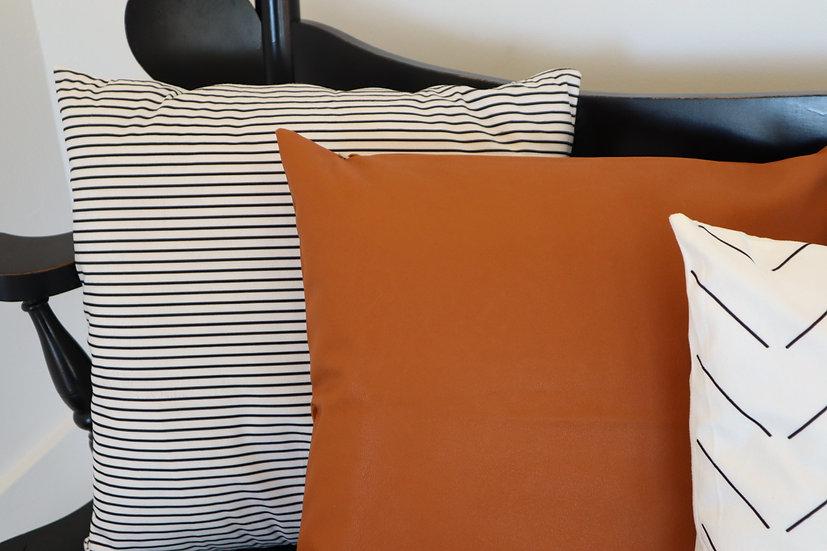 Thin Black Stripe Pillow Cover
