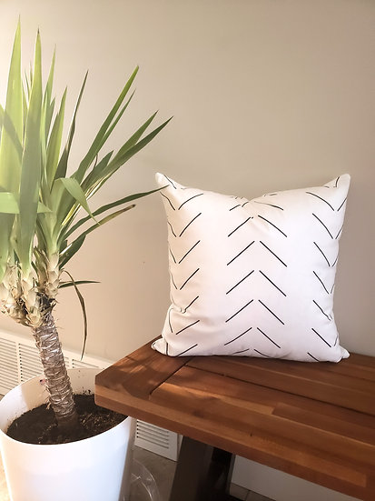 Vertical Chevron Pillow Cover