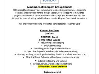 Job Opportunity: ESS Camp Positions