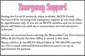 Emergency Support - MCFN Members Only