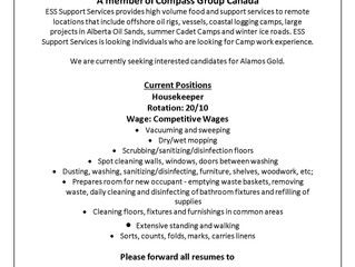 ESS Camp Positions - Front Desk - House Keeper
