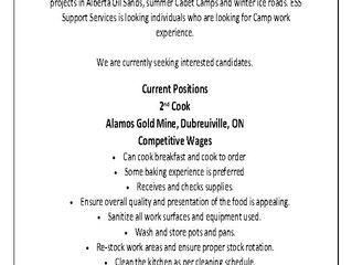 ESS Employment Opportunity                  2nd Cook