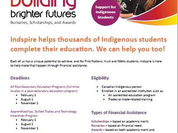 Indspire's Building Brighter Futures: Bursaries, Scholarships and Awards (BBF)