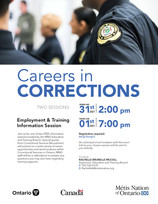 Employment & Training Information Session - Corrections, Ontario