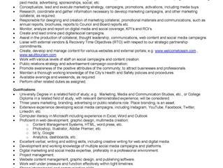 Sault Ste. Marie Job Opportunity Marketing Specialist