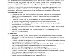 Employment Opportunity                    Garden River Executive Director