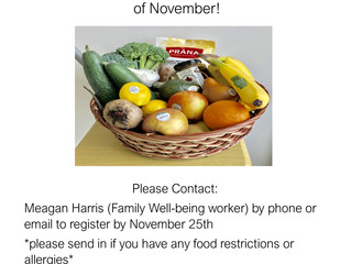 SSM MCFN Elder's Healthy Food Baskets - November 2020